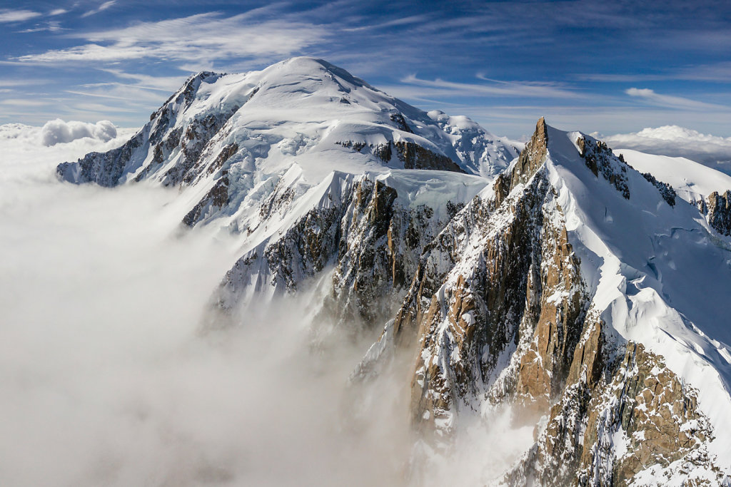 Mont Blanc, 4810m, top of Europe.